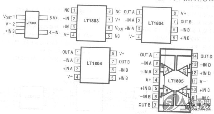 lt1804/lt1805轨至轨l/o运算放大器电路的基本特性