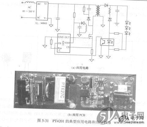 同时,pt4201的前侧消隐电路可帮助减少外部功率器件开启瞬间的电压