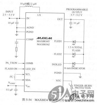 max8834是远端温度传感器接口吗?