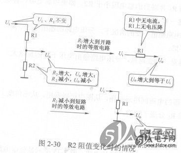 分压电路输出电压分析与理解