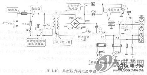 典型压力锅电源电路