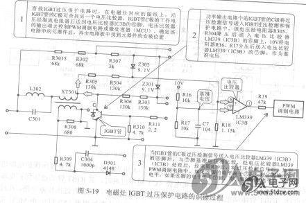 电磁灶igbt边压保护电路