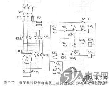 接触器控制电动机正反转的机床y-△转换节电