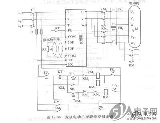 变极电动机变频器控制线路