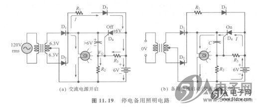 当电容器充电到交流电压经过全波整流后的峰值(6.