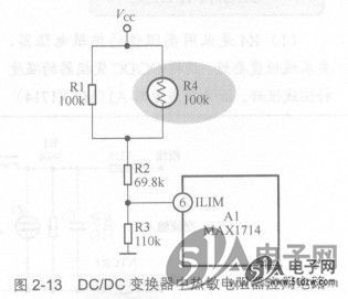 dc/dc变换器中热敏电阻器应用电路