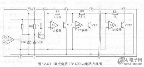 rl~r9构成基准电压分压电路,为a1~a9各电压比较器的反相输入端