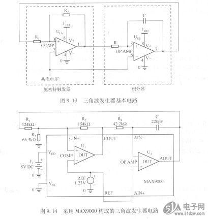 三角波发生器基本电路
