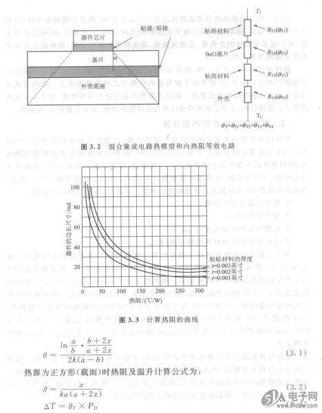 混合集成电路的热阻计算