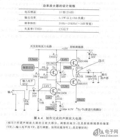 在共发射极电路集电极插入的偏置电路,产生射极跟随器的偏置电压,用