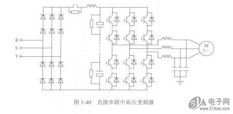 不使用输入变压器的功率器件直接串联中高压变频器