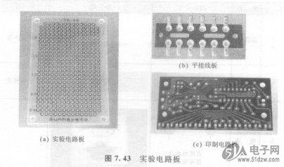 实验电路板,平接线板和印制电路板等.