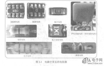 电阻器在电路中的符号