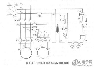 cw6140普通车床电气控制线路分析