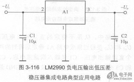 负电压输出低压差稳压器集成电路