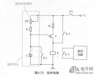 图4-71所示为调光台灯电路,在交流电的每半周内,晶闸管vs由单结晶体管