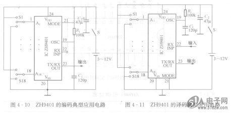 zh9401编/译码器应用电路