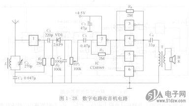 数字电路收音机-技术资料-51电子网