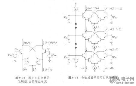 8的电路的    图9.11吉伯增益单元可以从属连接发展型:吉伯增益单元