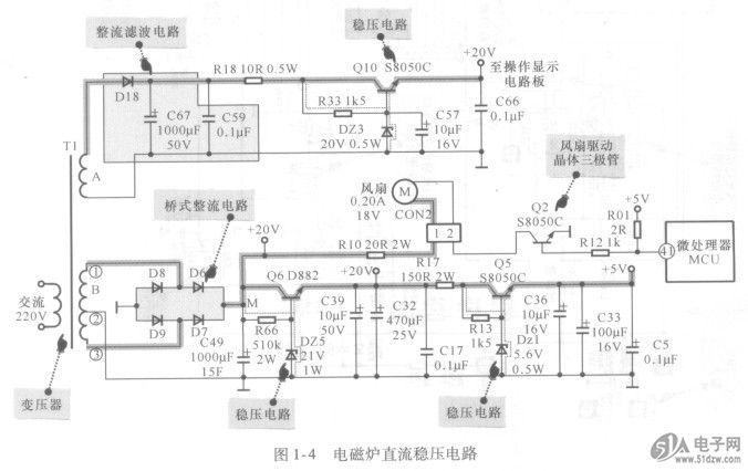 电路原理图中集成电路引脚直流t作电压的标注