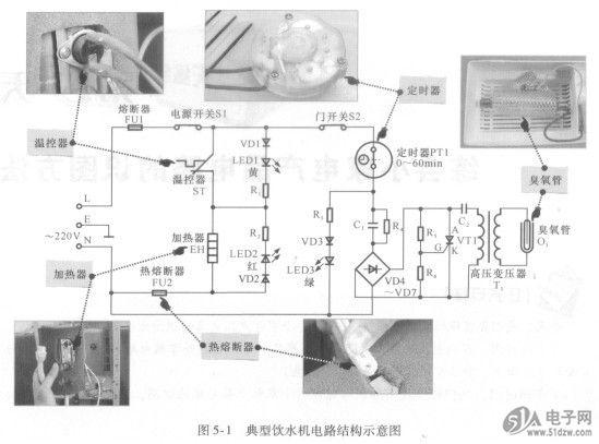 电热水壶电路的结构也比较简单
