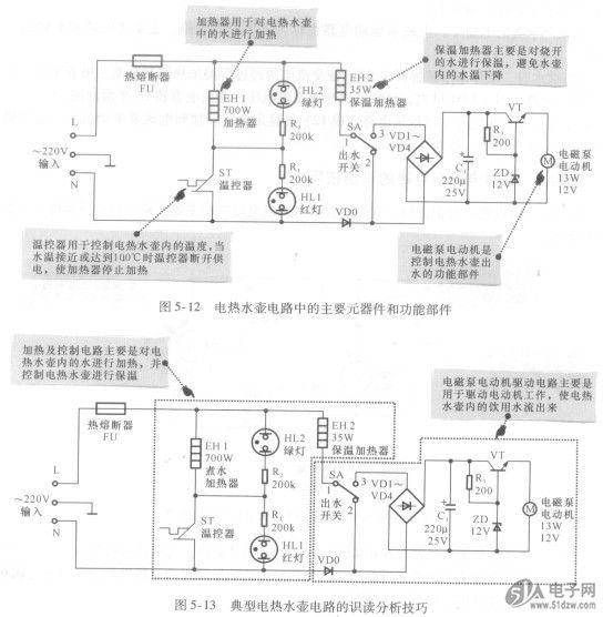 掌握电热水壶电路的识图技巧