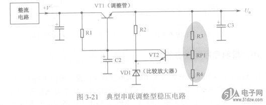 直流稳压电路中的取样电阻电路