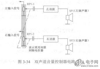 双声道音量控制器电路分析