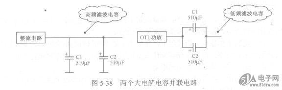 实用有极性电解电容并联电路分析