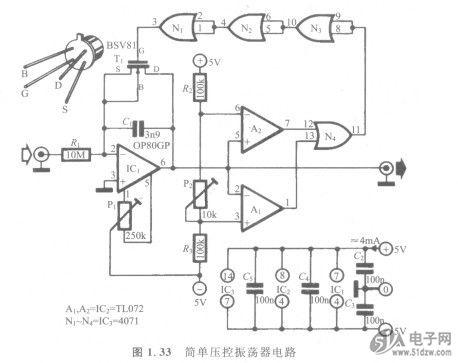 简单压控振荡器电路-技术资料-51电子网