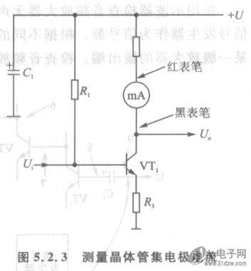 测量晶体管集电极静态直流工作电流