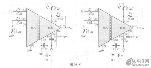 45中的仪器放大器电路中的运算放大器al和a2的电压增