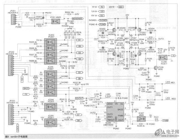 二极管的电路符号 脉冲响应 电压比较器 在使用chessboard图案 电流表